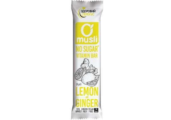 """Батончик-мюслі """"Лимон-Імбир"""" 25Г"""