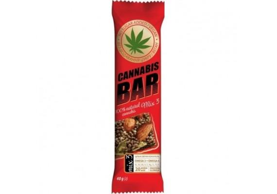 Батончик-мюсли с ореховым миксом+семена каннабиса 40Г