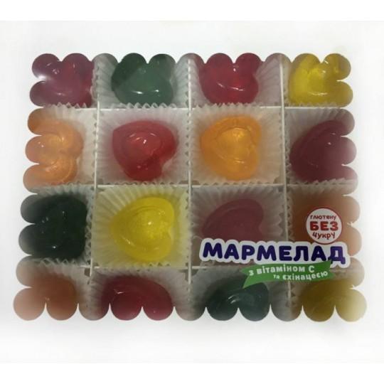 Коробка мармеладних сердечок на меді 340 грам