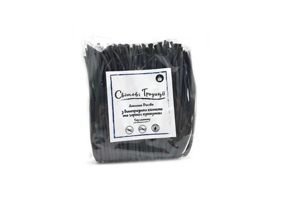 Локшина рисова з виног. кісточки з чорним кунжутом 300 грам - Світові традиції