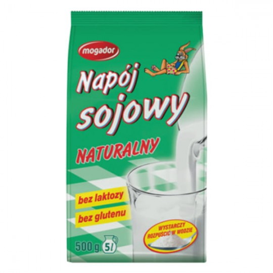 Натуральне сухе соєве молоко (напій) 500г - MOGADOR