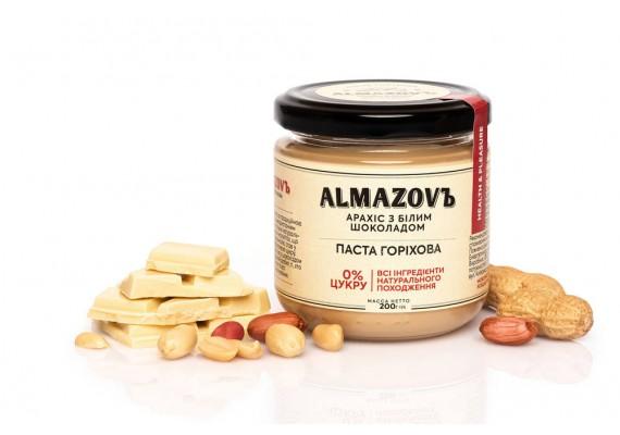 Паста горіхова арахіс з білим шоколадом 200 Г