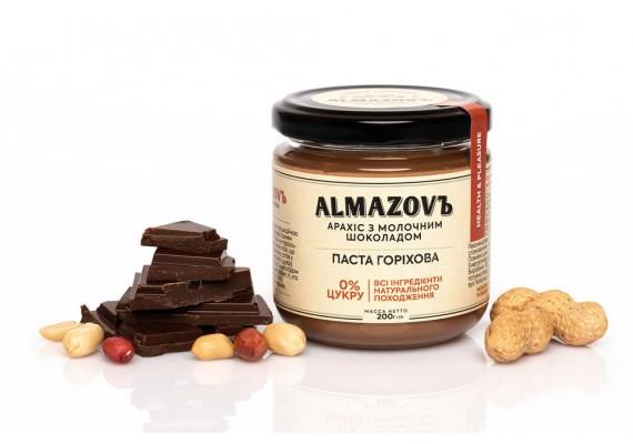 Паста горіхова арахіс з молочним шоколадом 200 Г