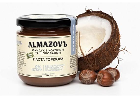 Паста ореховая фундук с кокосом и шоколадом 200 Г