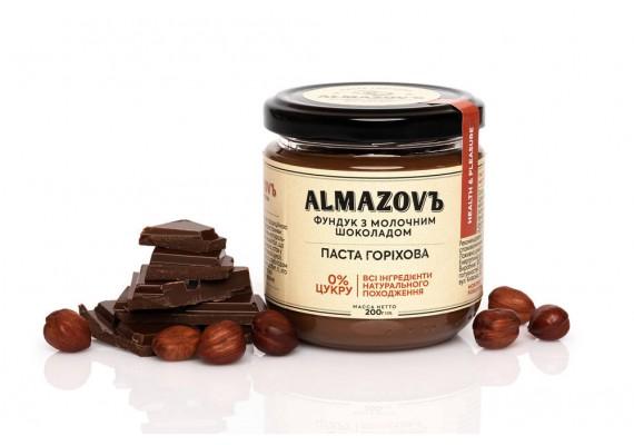Паста горіхова фундук з молочним шоколадом 200 Г