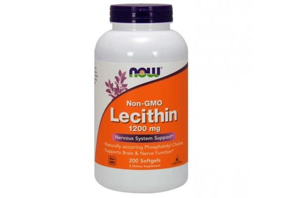Соєвий лецитин 1200 мг 200 капсул - NOW FOODS