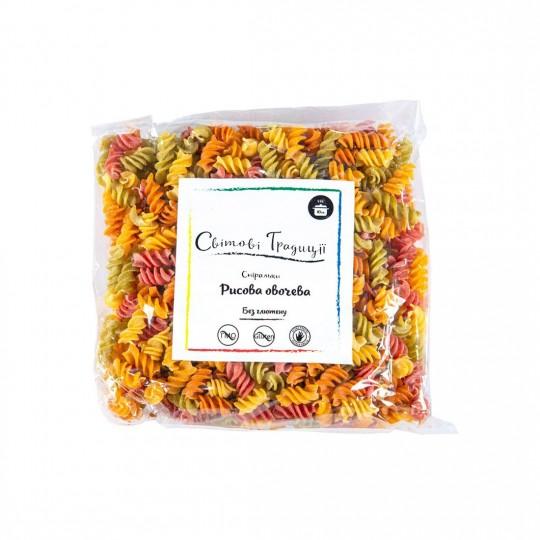 Спіральки рисові овочеві мікс 500 грам - Світові традиції