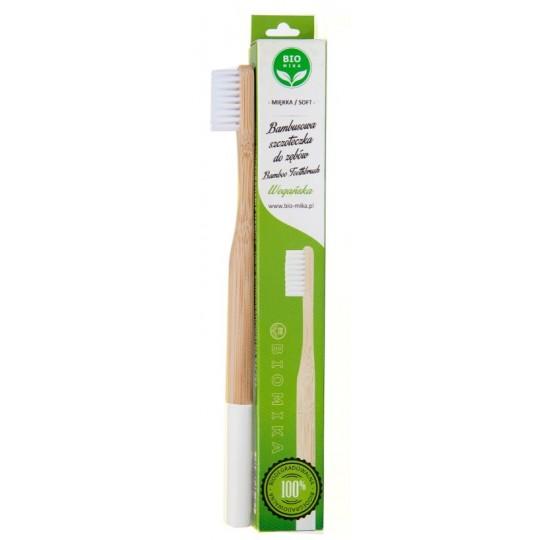 Бамбукова зубна щітка - BIOMIKA